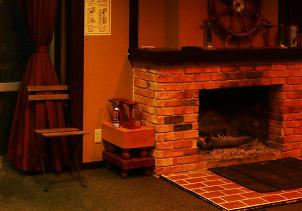 レンガ造りの暖炉
